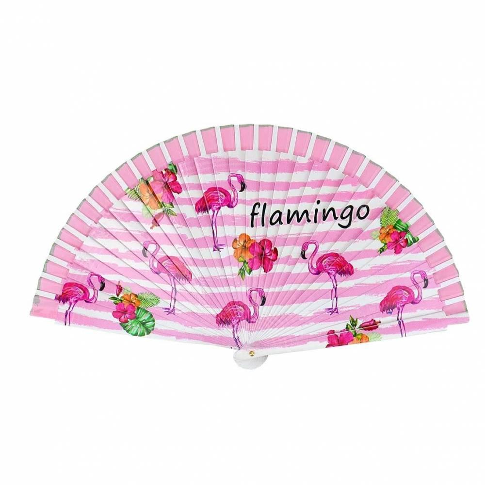 Abanico de flamencos rosa