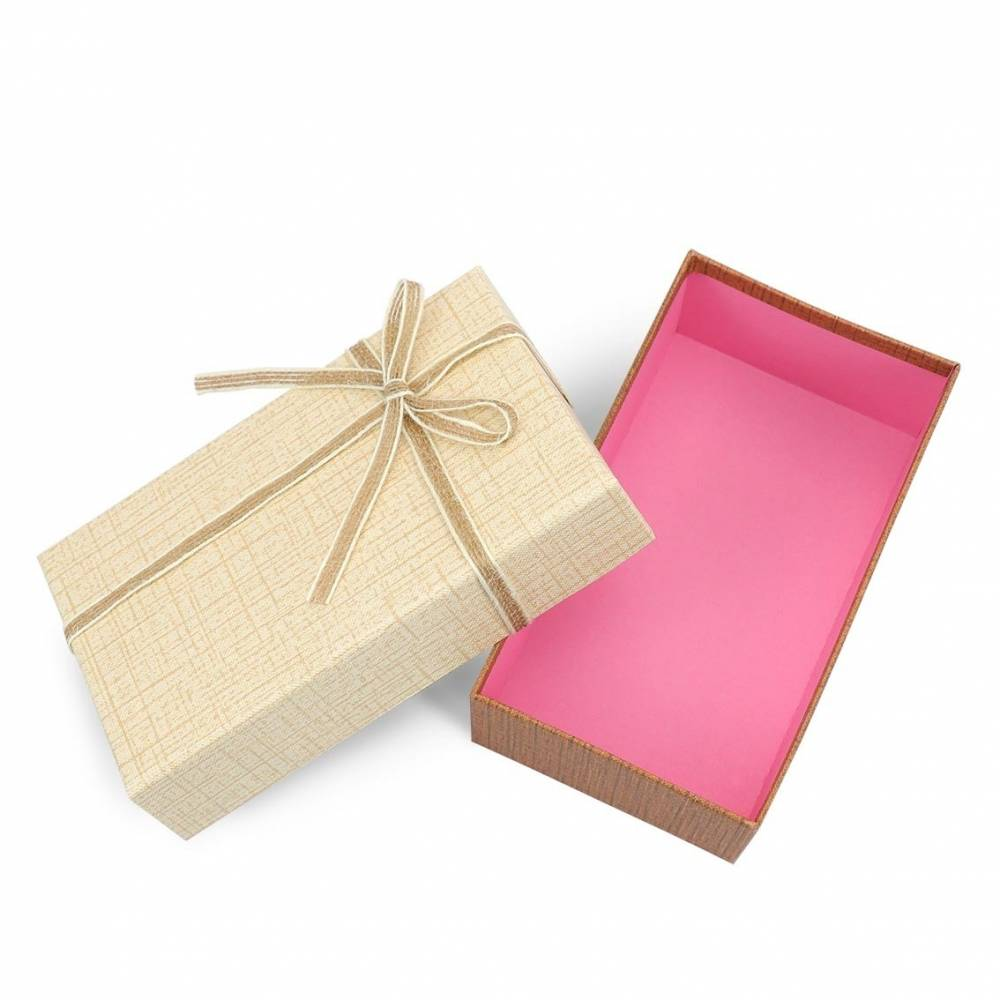 Caja de regalo mediano con lazo yute