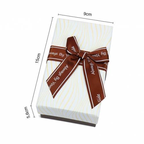 Caja de regalo elegante mediano con lazos