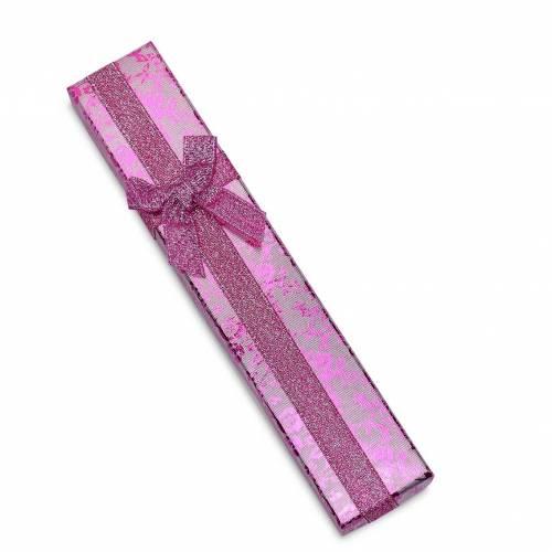 Caja regalo para collar estampado con lazos