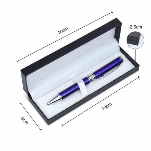 Bolígrafo metal elegante en caja de regalo negro