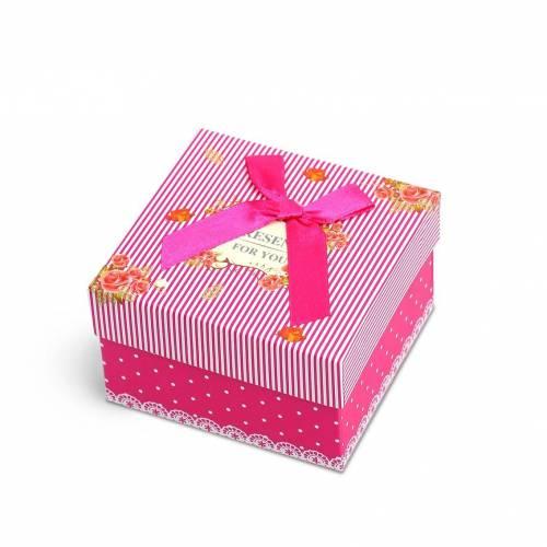 Caja regalo para pulseras cuadrado con almohadilla