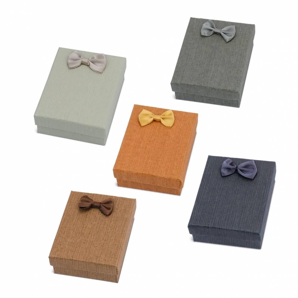 Caja regalo para hombres colores lisos con lazo
