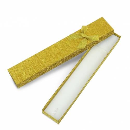 Caja de regalo dorado con lacito para collar