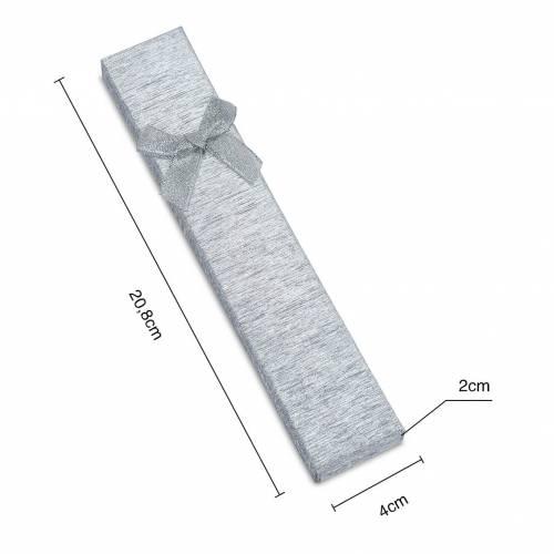 Caja de regalo plata con lacito para collar