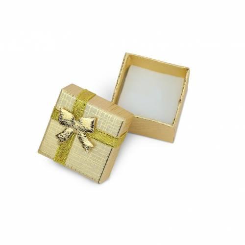 Caja de regalo pequeño para anillos dorado