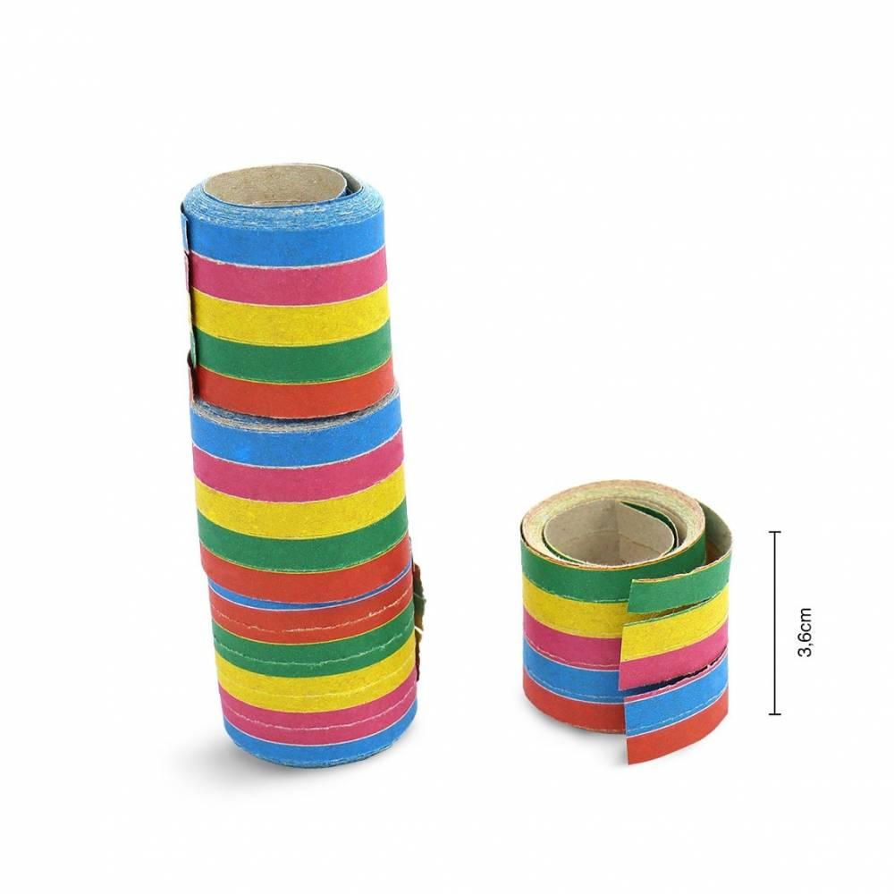 Serpentinas de papel 40 tiras para fiestas