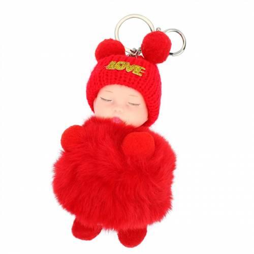 Llavero original de bebé dormido colgante pompon