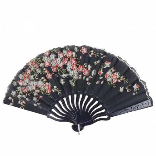 Abanicos baratos de tela con flores para regalar