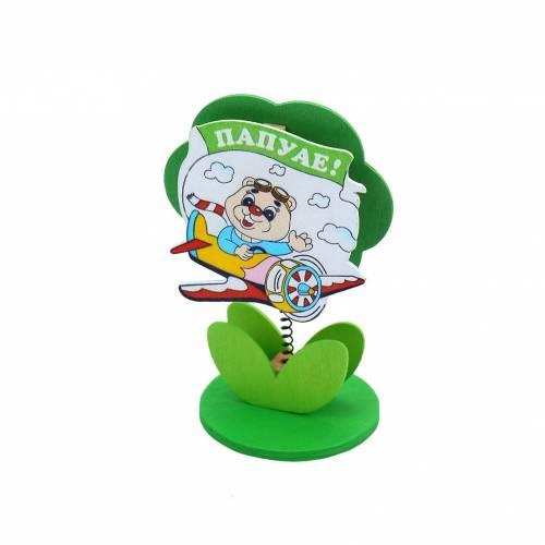 Pinza portafoto / tarjeta infantil para niños con avión
