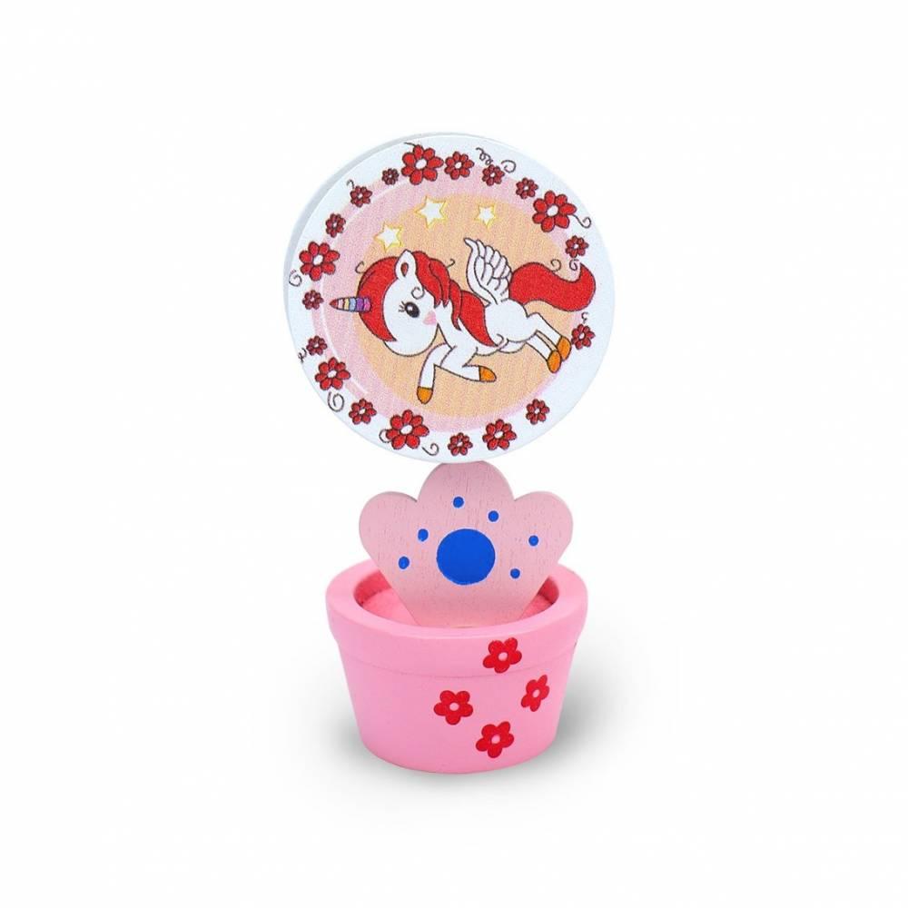 Portafotos de unicornios rosa o azul con pinza para niños
