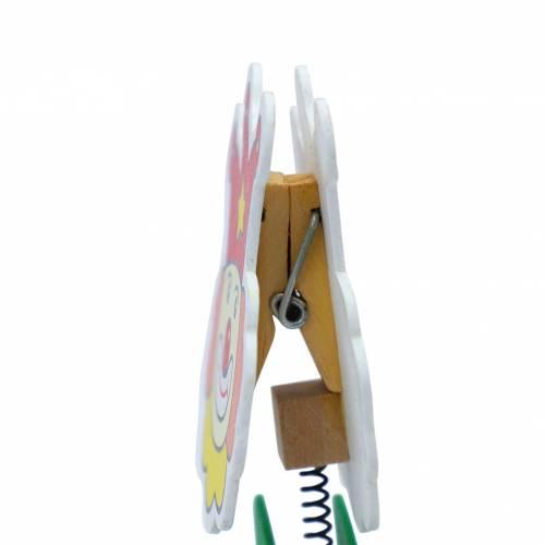 Portafotos de madera con pinza letras de abecedario para regalos de niños