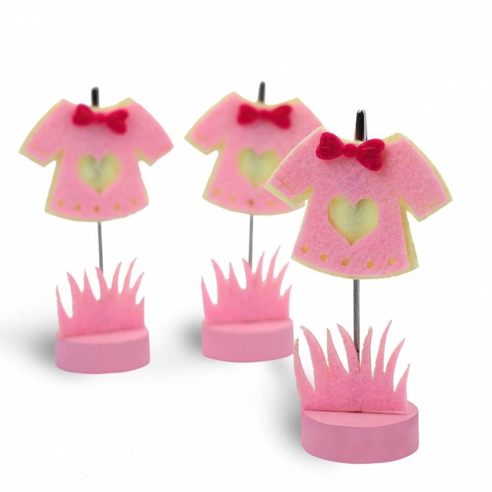 Portafotos originales de pinza vestido rosa para niñas