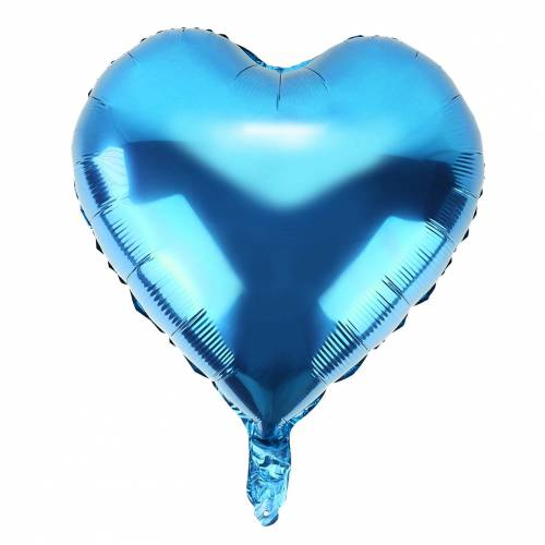 Conjunto de 10 globos para fiestas en color azul claro