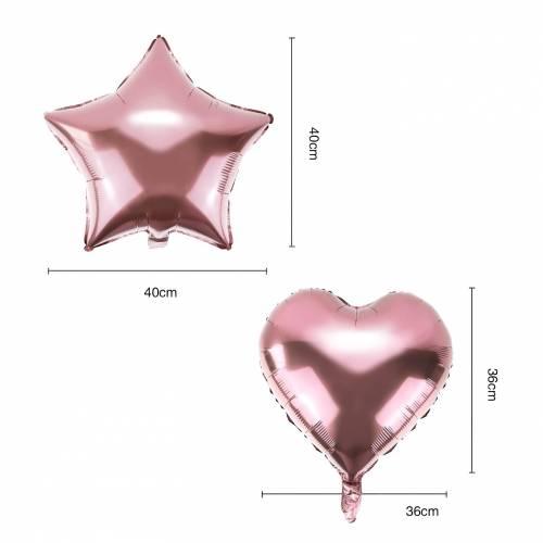 Conjunto de 10 globos para fiestas en color oro rosa