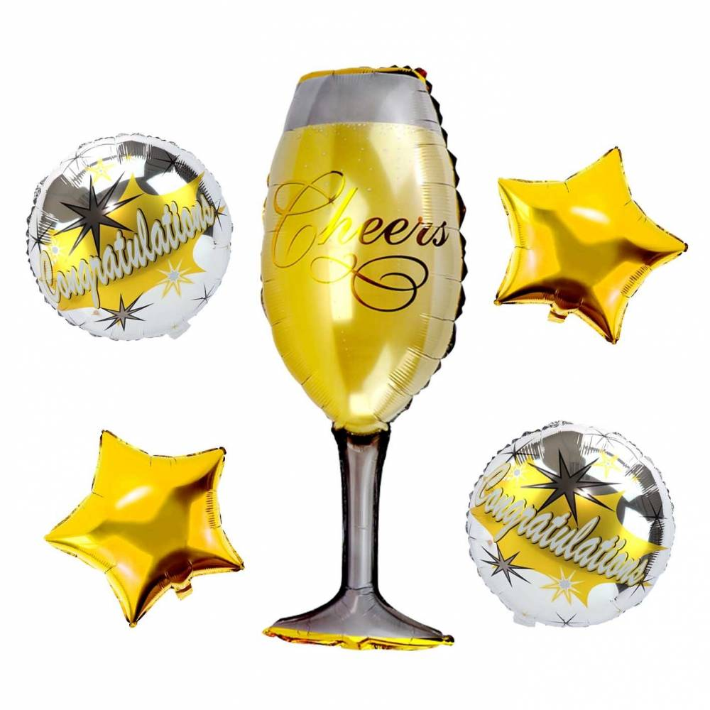 Conjunto de globos metálicos para fiestas