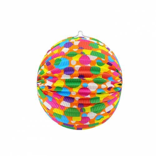 Bolas de papel con estampado de lunares de colores