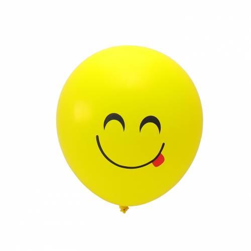 Globos amarillos con emojis