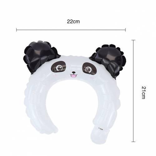 Globo de diadema con diseño de oso panda
