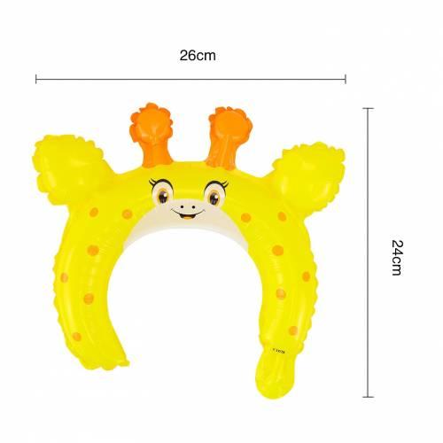 Globo metálico con diseño de jirafa