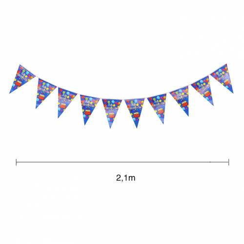 Banderines triangulares para cumpleaños