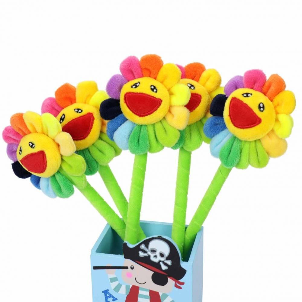 Bolígrafos originales y divertidos de girasol para niños