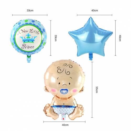 Globo metálico de bebé niño 5pcs