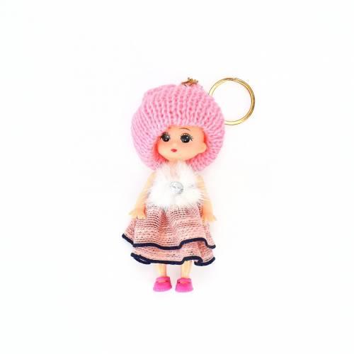 Llaveros con muñecas de colores
