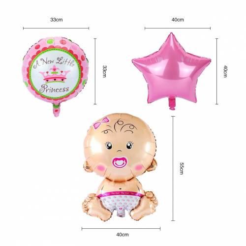 Globo metálico de bebé niña