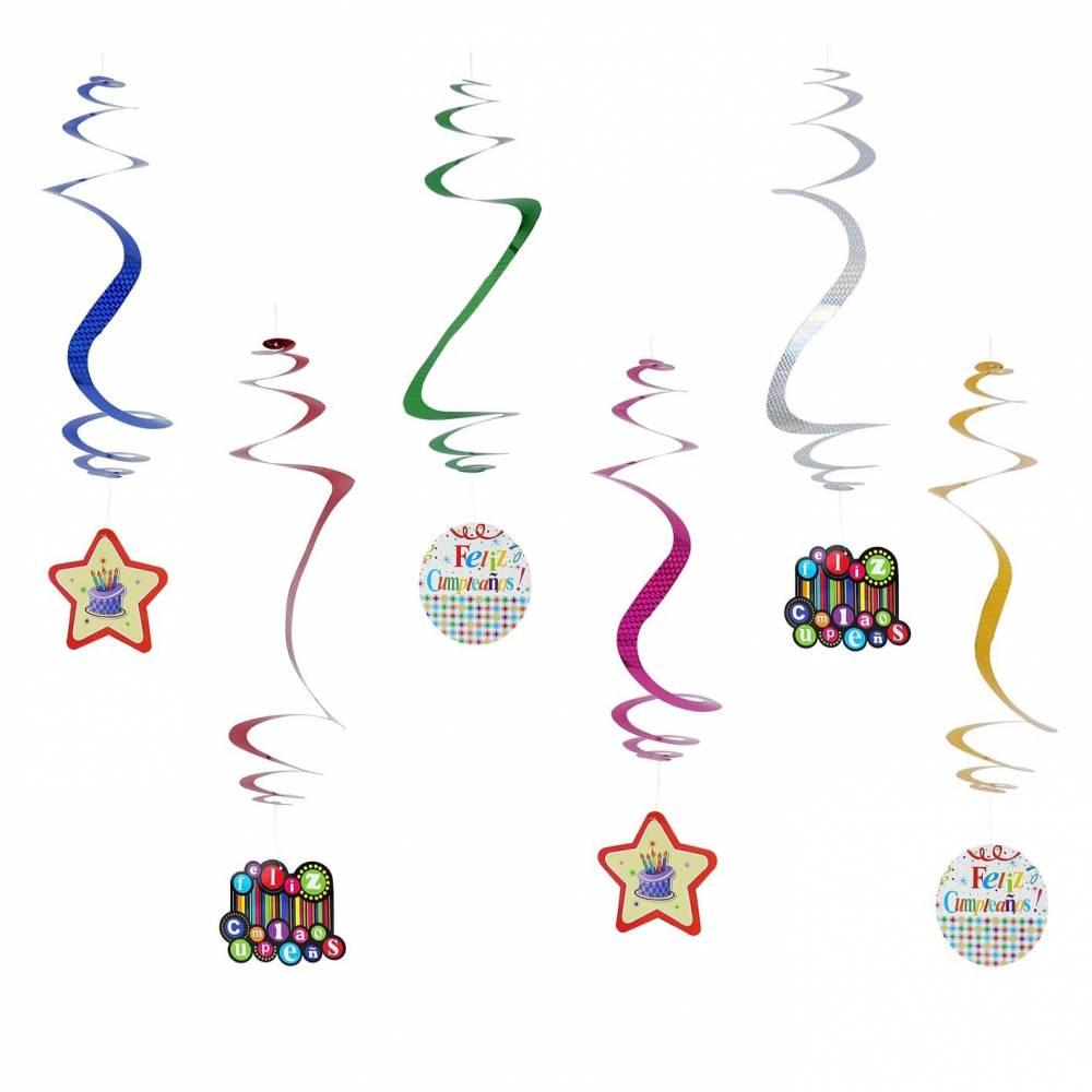 Espirales de decoración para cumpleaños