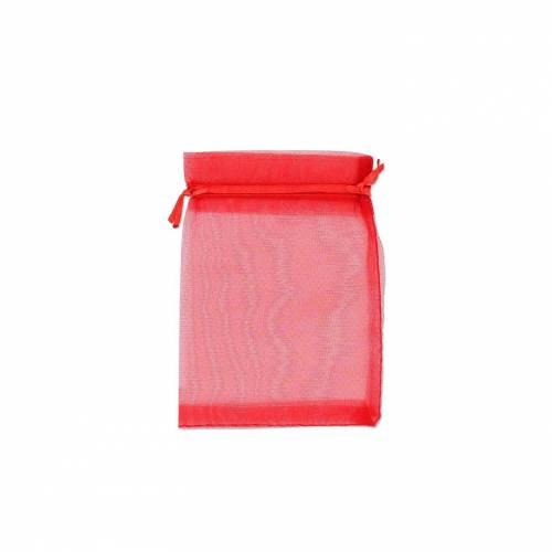 Bolsa de organza roja 10cm x 15cm - Detalles De Boda