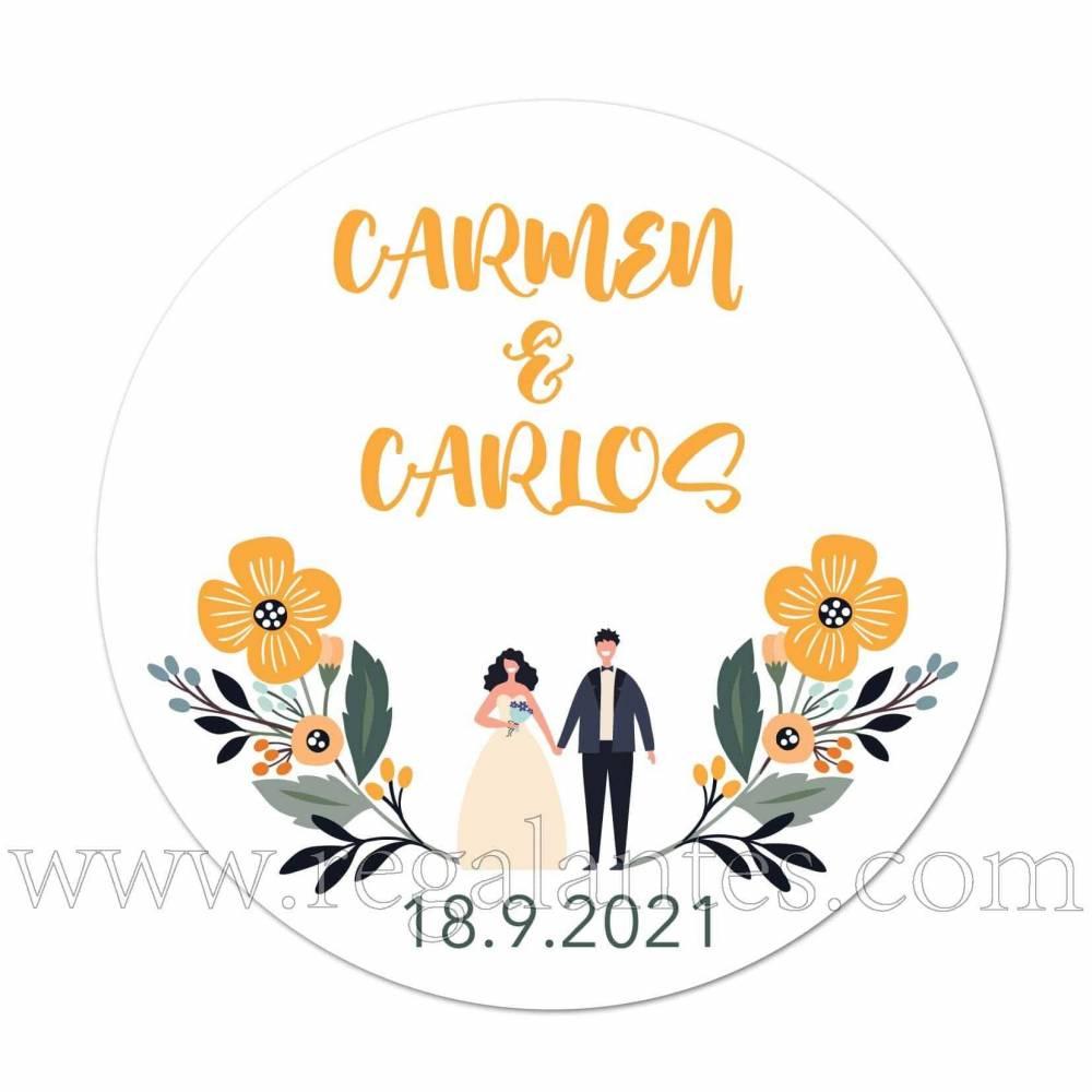Pegatinas con pareja personalizadas para bodas. - Pegatinas Y Etiquetas Personalizadas boda