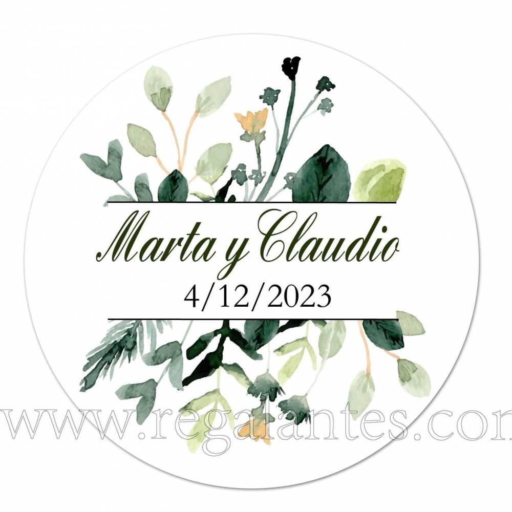Pegatinas con nombres personalizadas para bodas - Pegatinas Y Etiquetas Personalizadas boda
