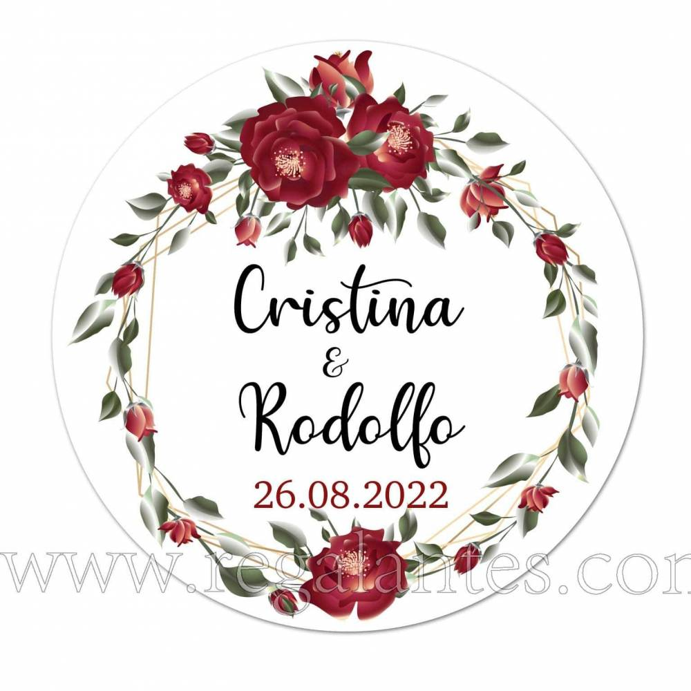 Pegatinas redondas personalizadas para boda - Pegatinas Y Etiquetas Personalizadas boda