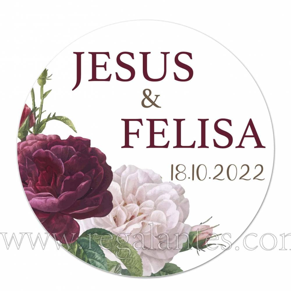 Pegatina personalizada para decorar bodas - Pegatinas Y Etiquetas Personalizadas boda