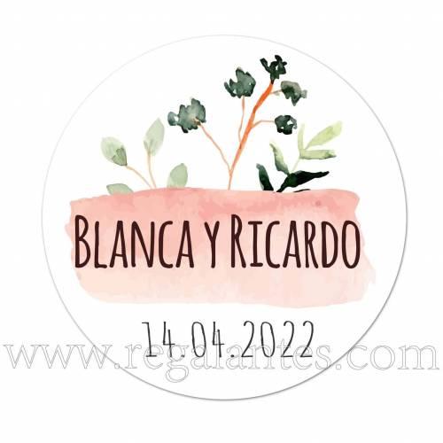 Pegatinas personalizadas para el día de tu boda - Pegatinas Y Etiquetas Personalizadas boda