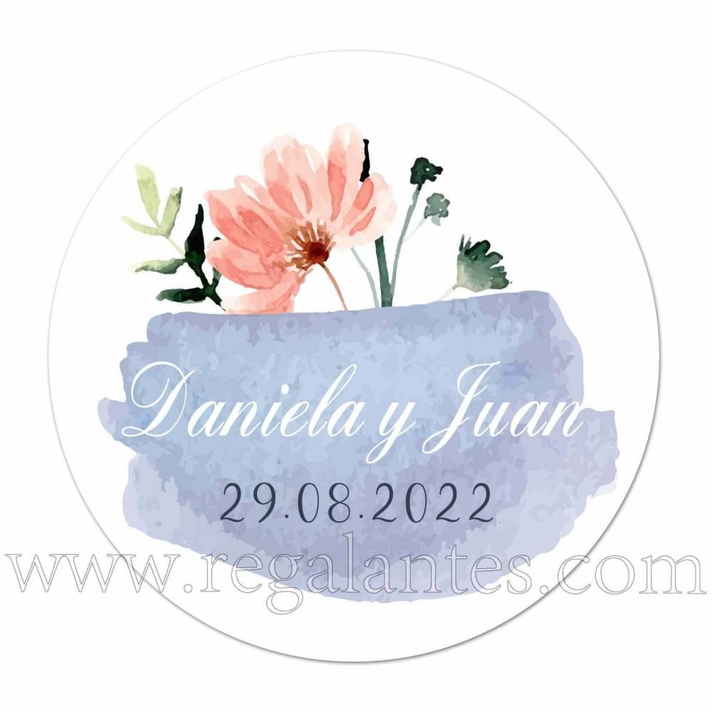 Pegatinas personalizadas para boda en tonos azules - Pegatinas Y Etiquetas Personalizadas boda