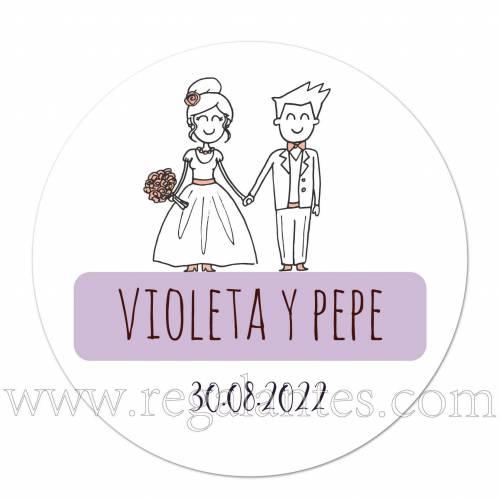 Pegatina personalizada de bodas - Pegatinas Y Etiquetas Personalizadas boda