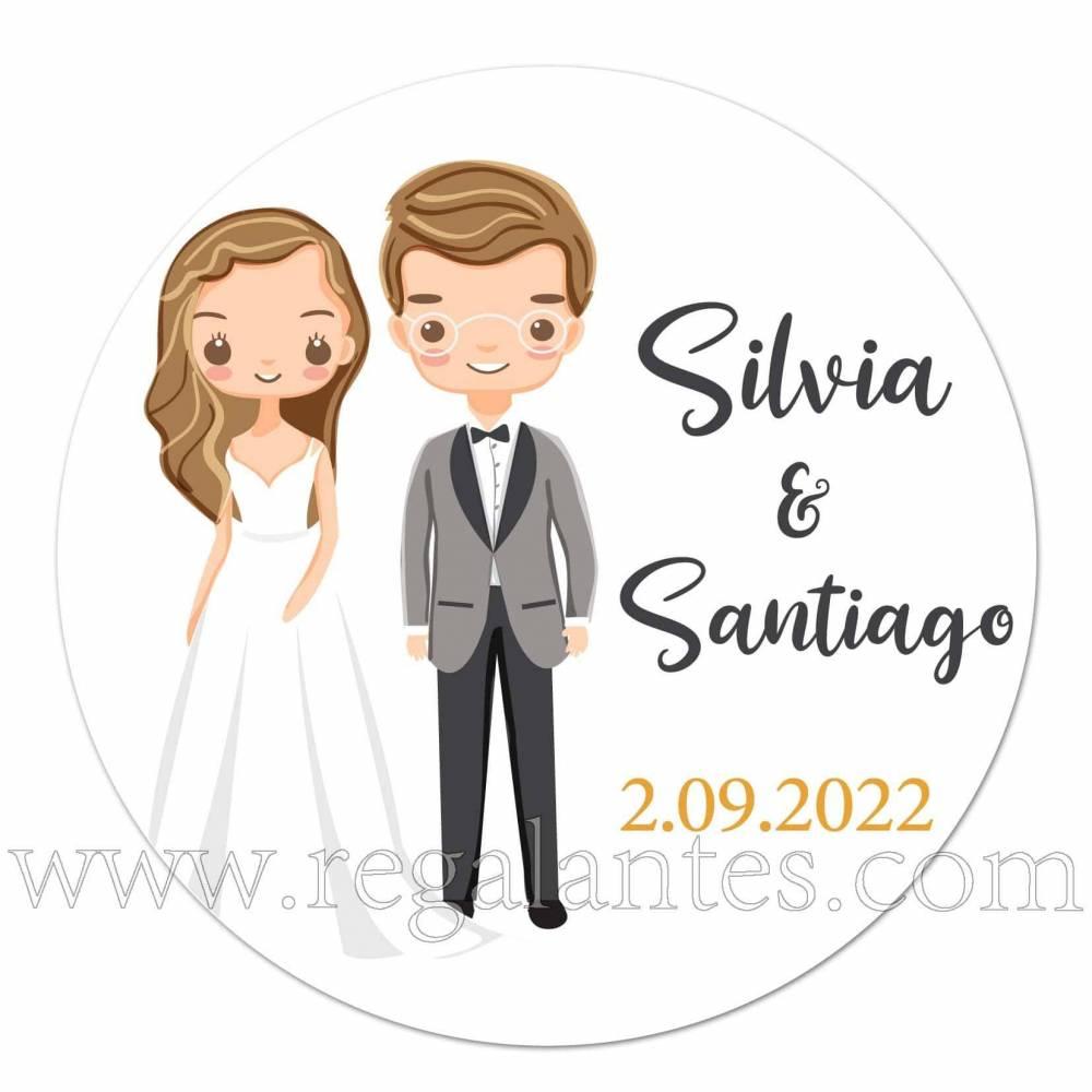 Pegatinas personalizadas para bodas con colores vivos - Pegatinas Y Etiquetas Personalizadas boda
