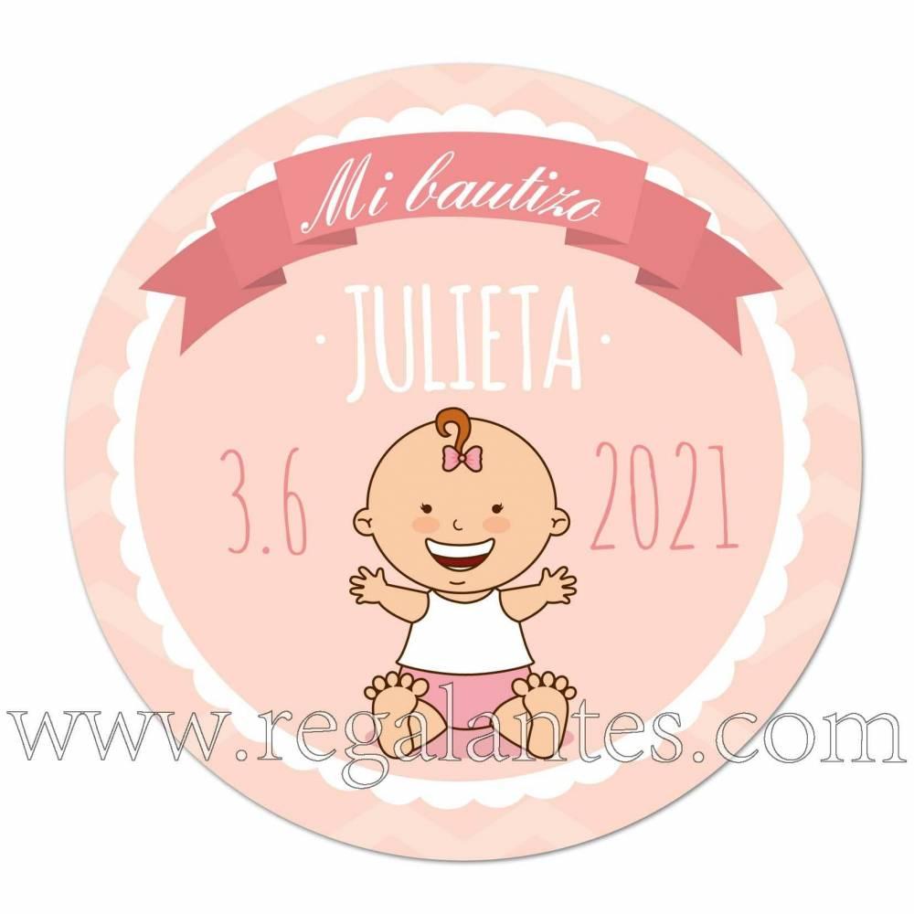 Pegatinas personalizadas para bautizo de niña - Pegatinas Y Etiquetas Personalizadas Bautizo