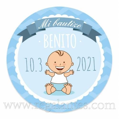 Pegatinas personalizadas para bautizo de niño - Pegatinas Y Etiquetas Personalizadas Bautizo