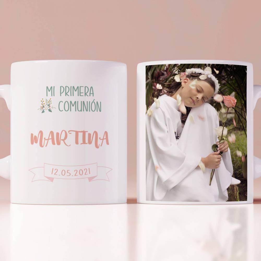 Taza personalizada primera comunión foto niña - Detalles Personalizados