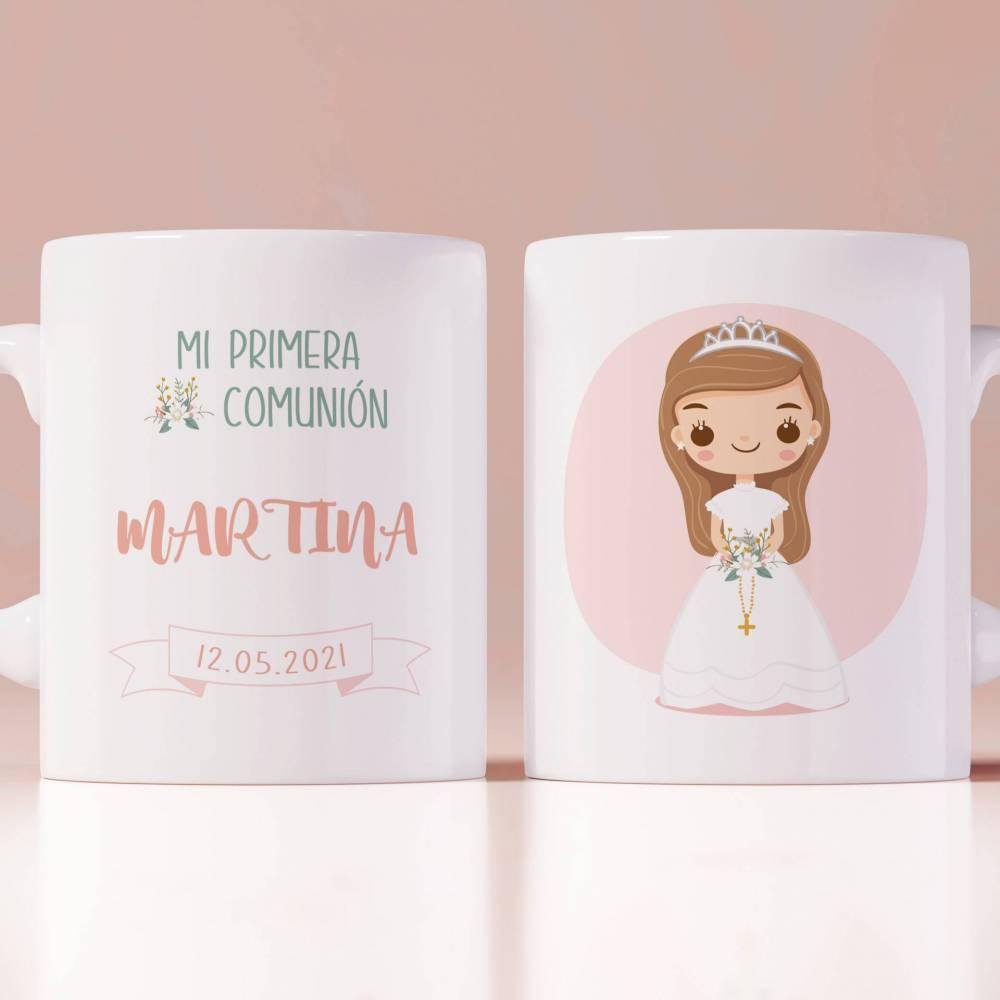 Taza comunión personalizada para niña - Detalles Personalizados