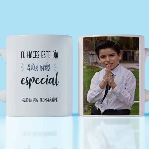 Taza primera comunión personalizada de niño detalles de invitados - Detalles Personalizados
