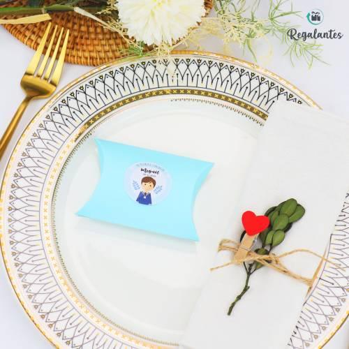Caja regalo para Comunión en forma de caramelo - Envoltorio Regalo de comunión