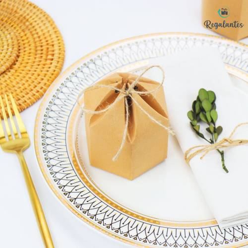 Caja para regalo cartón Redonda con lazo - Bolsitas, Cajitas, Tarros
