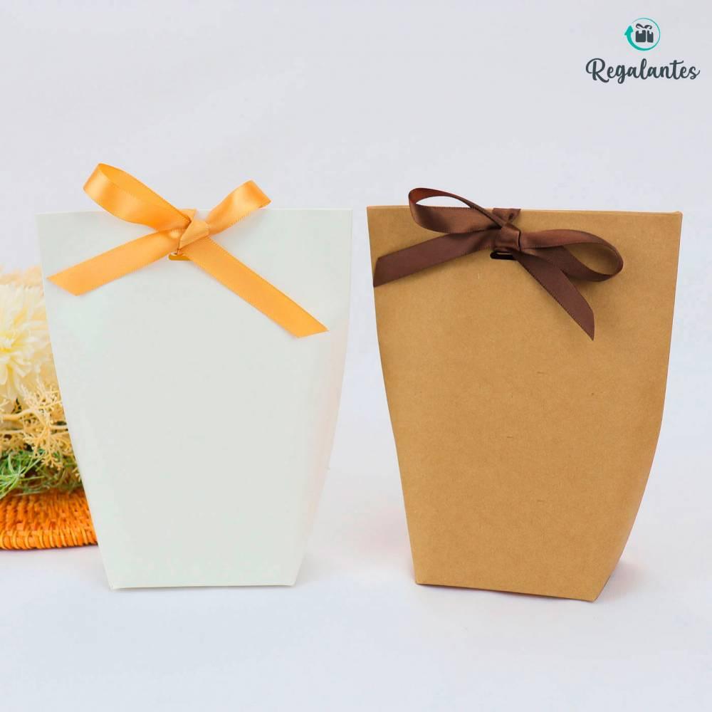 Cajas regalo papel con lazo dorado cuadrada - Bolsitas, Cajitas, Tarros