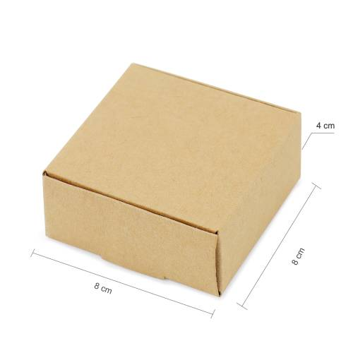 Caja Cartón Kraft para Boda Invitados 3 tamaños - Envoltorio Regalo