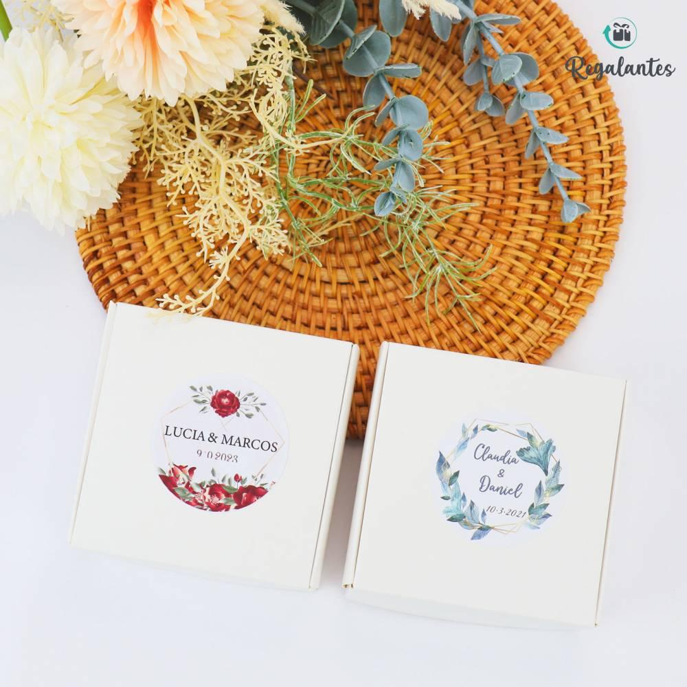 Cajas de Cartón Blanco para Invitados Bodas 2 Tamaños - Envoltorio Regalo