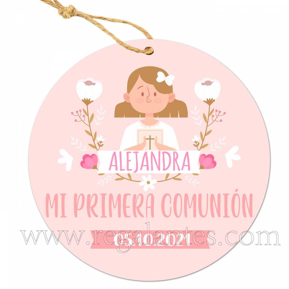 Etiqueta Comunión Personalizada Alejandra Niña - Pegatinas Y Etiquetas Personalizadas Comunión